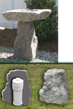 1000 images about well head cover on pinterest wishing for Landscape rock utility cover