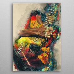 Kirk Hammett Mummy Guitar Pop Art Poster Print | metal posters - Displate