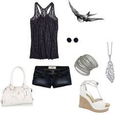 Navy Summer Outfit, created by erica-jade-noyes on Polyvore
