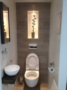 170 most popular small bathroom designs on a budget page 3 Small Downstairs Toilet, Small Toilet Room, Downstairs Bathroom, Guest Toilet, Bathroom Wall, Bathroom Things, Shiplap Bathroom, Bathroom Closet, Bathroom Plants