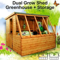 Garden Sheds With Greenhouse garden potting shed - modern - sheds - other metro - greenhouse