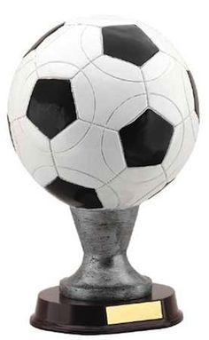 Jumbo Soccer Ball Resin Award Trophy