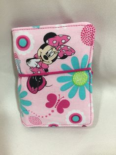 Credit Card Wallet/Holder: Disney/Minnie Mouse Pink Flower Theme by MommyMaryCrafts on Etsy