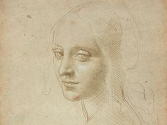 """Leonardo da Vinci, <em>Head of a Young Woman (Study for the Angel in the """"Virgin of the Rocks"""")</em>.  Photo: courtesy Biblioteca Reale, Turin, Italy; Muscarelle Museum of Art at the College of William & Mary in Virginia in partnership with the Associazione Culturale Metamorfosi; and the MFA, Boston."""
