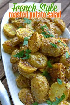 French Style Roasted Potato Salad - This Silly Girl's Life. ☀CQ southern recipes