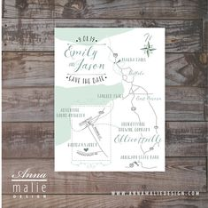 Save the date map, Wedding invitation map, Event map, Guest map, Driving Directions,  wedding ceremony map,  hand-drawn map, wedding maps
