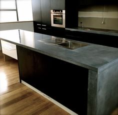 Polished concrete counter tops | bluegrey