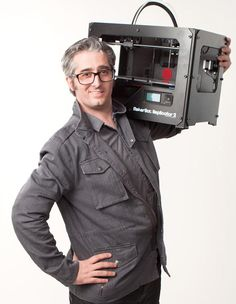 Bre Pettis, founder of the MakerBot 3D Printer.