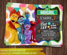 Sesame Street Invitation. Elmo Invitation. Sesame Street Birthday Invitation…