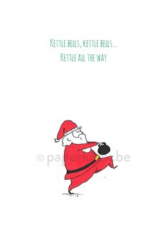 Kettlebells all the way Simple Christmas Cards, Funny Christmas Cards, Xmas Cards, Christmas Diy, Linolium, Holiday Workout, Eco Friendly Paper, Workout Memes, Rudolph The Red