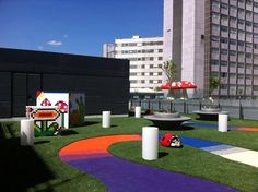 La Paz Hospital in Madrid. New Playgroud. Let's keep on children illusion !