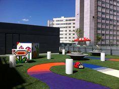 La Paz Hospital in Madrid. New Playgroud. Let's keep on children illusion !