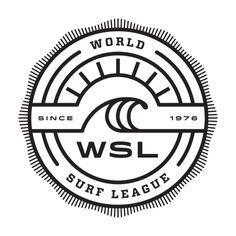 World Surf League. The evolution of the Association of Surfing Professionals. They changed the name of the ASP to the WSL. This is a link to the 2015 schedule. Surf Design, Logo Inspiration, Doodle Inspiration, Badge Design, Logo Design, Wsl Surf, Branding, Surf Stickers, Surf Logo