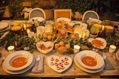 decoración de mesas de navidad por los mejores caterings: federica