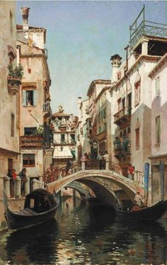 Federico del Campo Aesthetic Painting, Aesthetic Art, Aesthetic Pictures, Venice Painting, Italy Painting, Landscape Art, Landscape Paintings, Arte Van Gogh, Venice Travel