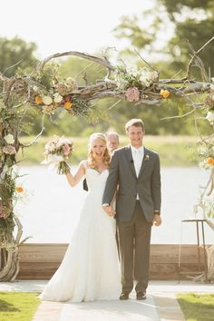 In love with this custom arch! - Southern Weddings