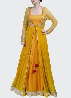 Dazzling Floor Length #Anarkali Suit...... for day time rituals like ring ceremony