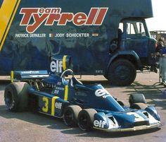 1976. Jody Schekter, Patrick Depallier. Tyrrell P34, six-wheeler