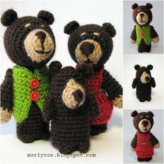 Паутинка: Пальчиковые куклы. Продолжение. Три медведя.