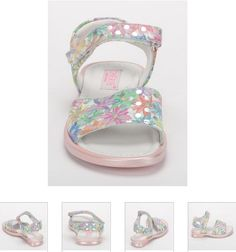 #Children's #Cherie #Sandals - White, Pink #Floral  #Leather #Kids Shoes. http://www.rinastore.com/1705-cherei-sandals-multicolor/dp/2280   #MadeInItaly Available at Rina's #Italian #Shoe #Boutique. On Sale Now!