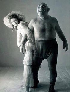 History In Pictures ‏@Fitzgerald Georgia In Pics  Maurice Tillet, a wrestler suffering from acromegaly.He died in 1954, and was the inspiration for the character Shrek