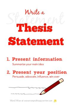 How to write a thesis statement with Word Wise at Nonprofit Copywriter Easy Writing, Writing Words, Article Writing, Fiction Writing, Blog Writing, Writing Skills, Writing A Book, Writing Tips, Writing A Thesis Statement