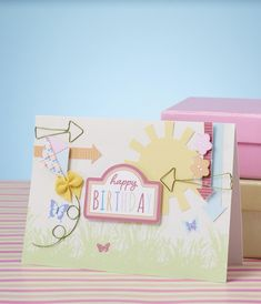 Make this Summer Kite birthday card using our free digital papers!