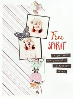 9x12 layout using a PageMaps sketch and the Free Spirit collection by Cocoa Vanilla Studios