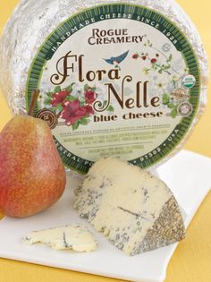 Award-winning specialty foods: Flora Nelle is the only blue at Rogue Creamery made with pasteurized cow's milk. It has a distinct appearance with many veins of blue mold that are encouraged to develop throughout the paste. The result is a robust and piquant blue with subtle hints of blueberry and crumbly but creamy texture.