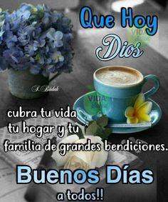 Good Morning Funny, Good Morning Good Night, Good Morning Quotes, Morning Greetings Quotes, Morning Messages, Spanish Greetings, Breakfast Dessert, Spanish Quotes, God Is Good