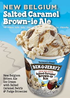 Ben & Jerry's Belgium Beer Ice-Cream Combines Eating And Drinking To Save The Environment -  #beer #benjerry #icecream