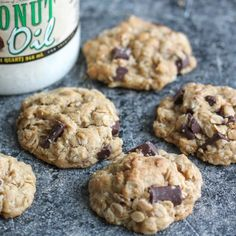 These oatmeal chocolate chunk cookies are delicious and hearty.
