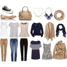 Image result for capsule wardrobe for summer in navy