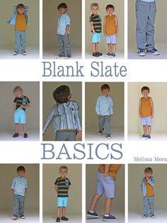 Blank Slate Patterns : Boys Pattern Collection : Blank Tank + Vintage V-Neck T-Shirt + Basic Blazer + Clean Slate Pants/Shorts + Prepster Pullover -----> 18M/8Y