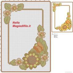 Schema thun per vassoio con girasole schema punto croce gratis