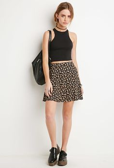 Forever 21 is the authority on fashion & the go-to retailer for the latest trends, styles & the hottest deals. Shop dresses, tops, tees, leggings & more! Casual Outfits, Cute Outfits, Fashion Outfits, Womens Fashion, Fashion Models, Bustier Top Outfits, Ponytail Girl, Floral Skater Skirt, Queen Outfit