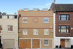 The finished work at Culross Street in London Brick Laying, London Property, Brickwork, Bespoke, Multi Story Building, Garage Doors, Construction, Street, Outdoor Decor