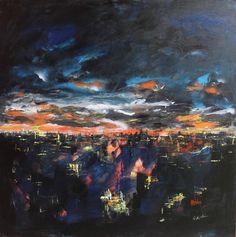 sunset Artist Art, Lovers Art, Sunset, Painting, Fotografia, Painting Art, Paintings, Sunsets, Painted Canvas