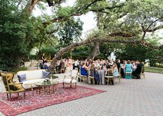 Nora and Silas' organic outdoor Austin wedding is simply beautiful in every way! The wonderful wedding weekend kicked off with a rehearsal dinner at Austin staple Salt Lick BBQ. The amazing pros at Pearl Events Austin made sure every detail was flawless including the perfect decor and rentals from Loot Vintage Rentals and Premiere Events. Guests absolutely raved over every greenery-wrapped detail as well as the delicious dinner catered by The Peached Tortilla. Photo by ML Photo & Film!