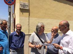 Bari sopralluogo dellassessore Galasso a Macchie per risolvere criticità legate a fogna nera erogazione idrica e sottopasso di via Martellotta