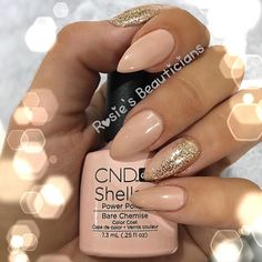 Nude Stiletto Shellac  #nudenails #shellac #nails #nailswag #barechemise #beauty #salon #instadaily #sweetsquared #cnd #rockstar #lecenteglitter #cndshellac #nailporn #nailedit #scratchmag #stilettonails #rosiesbeauticians #suffolk #beccles