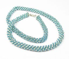 Turquoise and Silver Russian Spiral Necklace by kiddercreations, $55.00