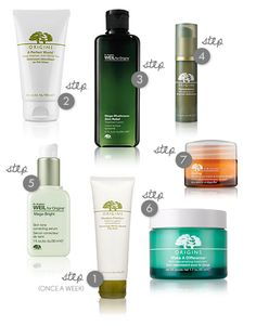 Origins skincare products and routine. I'm currently using 4 of these and love them!