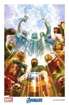 Earth's Mightiest Heroes Giclée on Canvas - Signed & Numbered-Alex Ross Earth's Mightiest Heroes is a 30 x 20 Giclee on Elegance Velvet Canvas. It is an illustration by Alex Ross for a hardcover book featuring a compilation of his Marvel artwork. Comic Book Artists, Comic Book Characters, Marvel Characters, Comic Artist, Comic Books Art, Alex Ross, Marvel Comics Art, Marvel Vs, Marvel Heroes