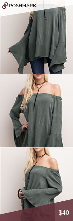 Off the Shoulder Bohemian Top Adorable off the shoulder bohemian top in practically brand new condition. Re-posting due to Top not being as long as I had expected. It is true to size in picture but I have an abnormally long torso. Listed under FP for exposure Free People Tops