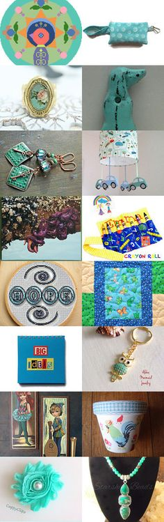 A Touch of Turquoise by Rhian on Etsy--Pinned with TreasuryPin.com