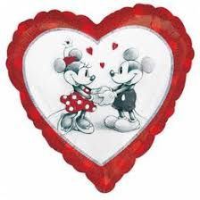 18 Minnie Mickey Holographic Valentine s Day Balloon This 18 heart shaped foil balloon is decorated with a lovely black white and red Minnie and Bubble Balloons, Heart Balloons, Mylar Balloons, Latex Balloons, Mickey And Minnie Love, Mickey Minnie Mouse, Bargain Balloons, San Valentin Ideas, The Originals