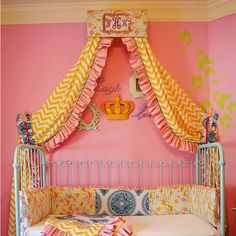 A monogram bed cornice! Do this for Sk's big girl bed.