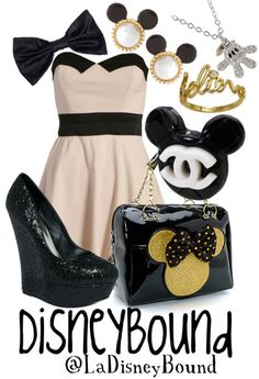 DisneyBound Outfit - Mickey or Minnie Mouse Themed Outfit - CUTE Idea!