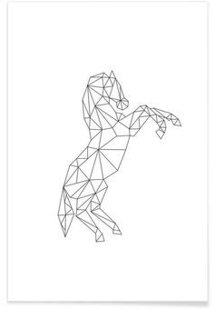 Geometric Horse as Premium Poster by RK Design | JUNIQE